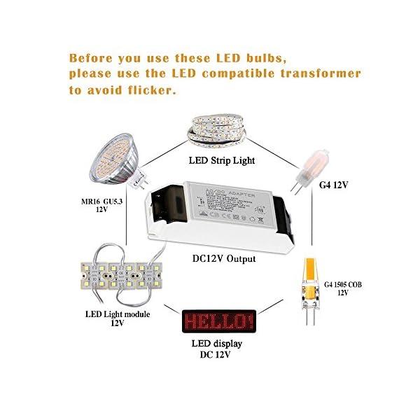 Gvoree, lampadine a LED G4, 2W, sostituisce lampadina alogena da 20W, AC/DC 12V, angolo di diffusione: 360°, bianco freddo 6000K, non dimmerabile, confezione da 10 2 spesavip