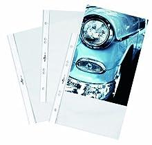 Durable 265119 Mangas de folleto DIN A5 Business, 0,06mm, 4 bolsas con 25 piezas, transparente