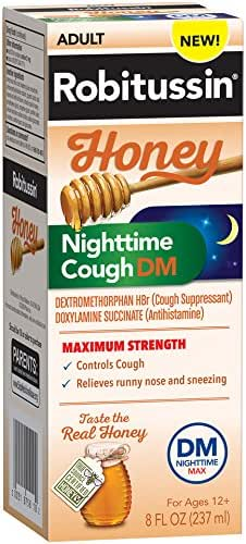 Cough & Sore Throat: Robitussin Honey Nighttime Cough
