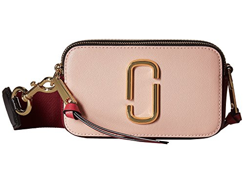 - Marc Jacobs Women's Snapshot Camera Bag, Rose, Pink, Stripe, One Size