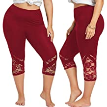 LISTHA Fashion Women Yoga Leggings Lace Plus Size Skinny Sport Pants Exercise Trousers