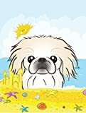 Caroline's Treasures BB2089GF Pekingese Summer Beach Garden Flag, Small, Multicolor Review