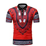 Best Acids For Muscles - VIASA Men Slim Fit Short Sleeve African Printed Review