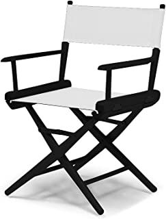 product image for Telescope Casual World Famous Dining Height Director Chair, White with Black Frame