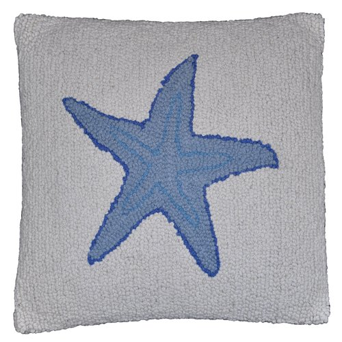 (Be-You-tiful Home Starfish Wool Hook Decorative Pillow)