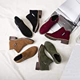 Women Vintage Boots, Zipper Leather Booties Flat