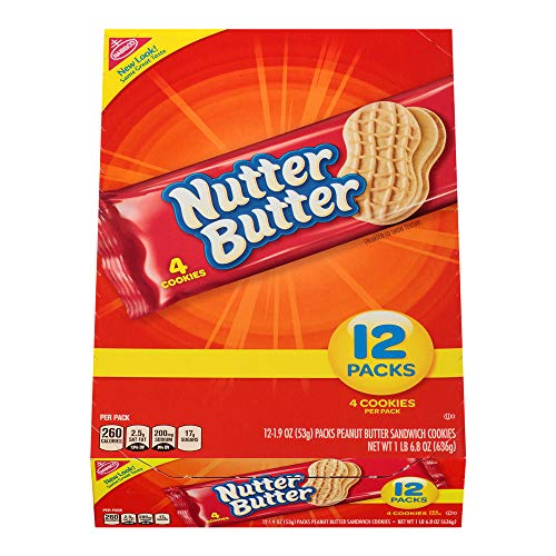 Nutter Butter Full-Size Peanut Butter Sandwich Cookies, 12 Count (Pack Of 4) ()