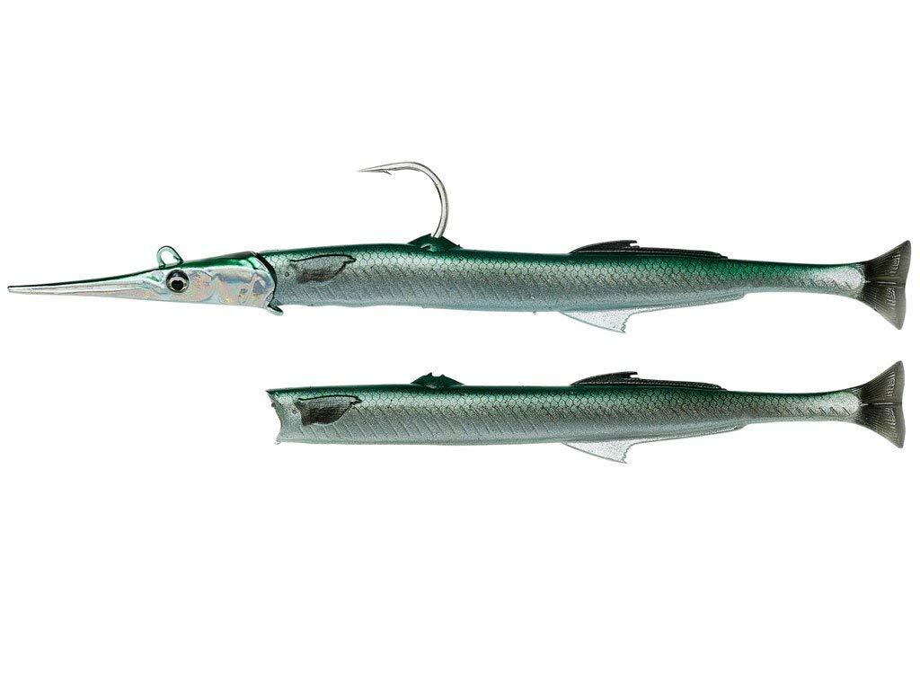 SAVAGE SALT Needlefish Verde Needlefish Saco de Salto 3D con pulsetail