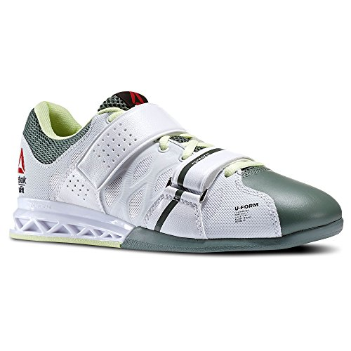 Reebok CrossFit Lifter Plus 2.0 Training Sneaker Shoe – White-Silvery Green-Citrus Glow – Womens – 10