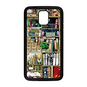 Nymeria 19 Customized Shelves Of Old Books Pattern Diy Design For Samsung Galaxy S5 Hard Back Cover Case DE-315