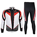 Bazaar ARSUXEO Mens Cycling Jersey Long Sleeves Set Mountain Bike Riding Clothes With Tights Pants