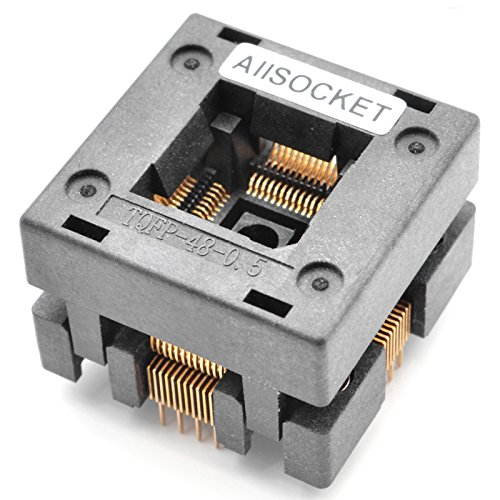 ALLSOCKET QFP48-0.5 Socket IC Burn-in Tesing Socket OTQ-48-0.5-01 0.5mm Pitch 7x7mm IC Dimension Open-top Socket Soldering Version(QFP48-0.5-STP)