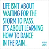 """Quotable Magnet-""""Life Isn't About Waiting for the"""