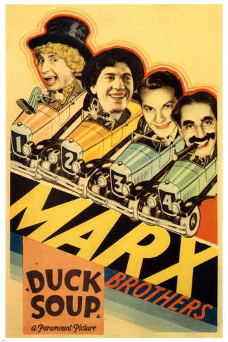 MARX BROTHERS' duck SOUP movie POSTER leo MCCAREY director 1933 24X36 (reproduction, not an original) (Poster Marx Brothers)