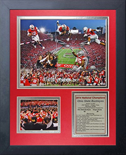 NCAA Ohio State Buckeyes Legends Never Die Framed Photo Collage (2014 CFP Football National Champions), Celebration 2, 11 x 14-Inch