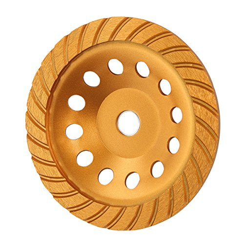 KSEIBI 644060 Super Turbo Diamond Cup wheel 7 Inch (180 mm) With Reduced Ring