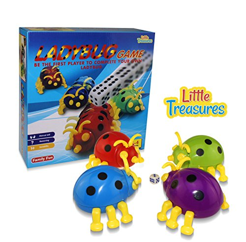 Ladybug Game, fun Children Challenging Table Game, The Goal of the Game, Be the First Player to Complete Your Own Ladybug. Educational Fun Game for Boys and (Ladybug Game)