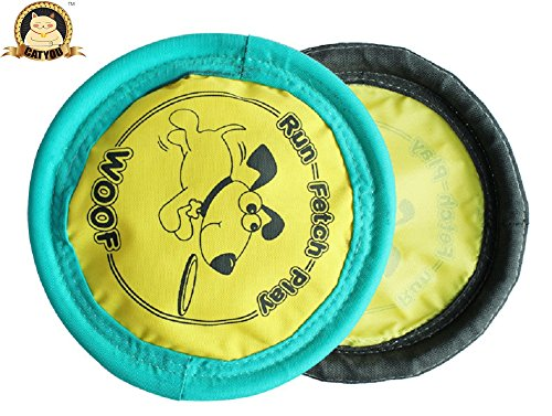 CatYou Soft Flying Disc Toy for Dogs (9.5-Inch)