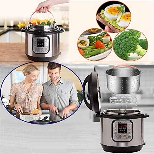 14pcs Accessories for Instant 6 QT&8QT, Steamer Basket, Silicone Bites Mold, Egg Rack,Non-Stick Springform Pan,Food, Pot Tong, Oven Mitts, Oi, 6QT&8QT by Chiyan by Chiyan (Image #8)