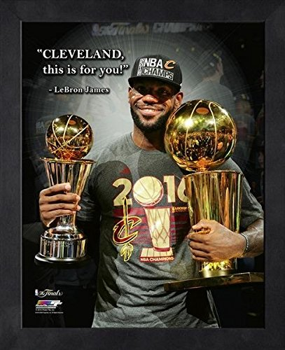 LeBron James Cleveland Cavaliers NBA ProQuotes Photo (Size: 12'' x 15'') Framed by NBA