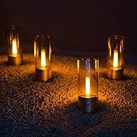 online retailer innovative design reasonable price YEELIGHT YLFW01YL Candela, Rechargable Smart LED Candle Ambiance Bluetooth  App Rotate Control, Night Light Bedside Lamp, 1800K