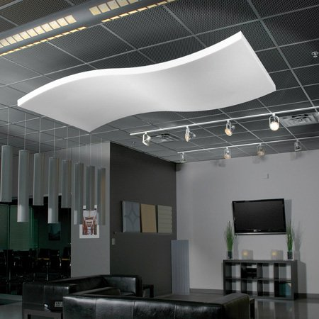 Sonex WWC-2 Whisper Wave Clouds - 24in x 48in Acoustical Foam - Natural White (Box of 4 Sheets)