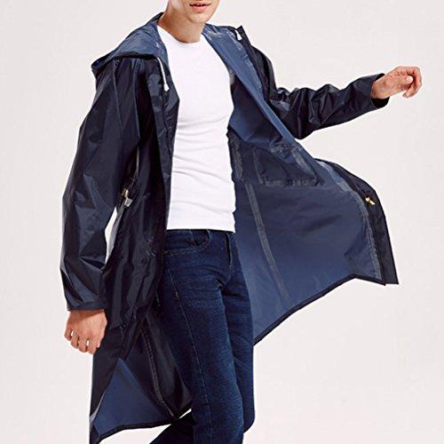 Los Zhuhaitf con e Camicie da De Hombres con tasche cappuccio lunghi da bottoni Mens motociclista cappuccio con impermeabili Impermeabili verdi esterno r5pa0rnq