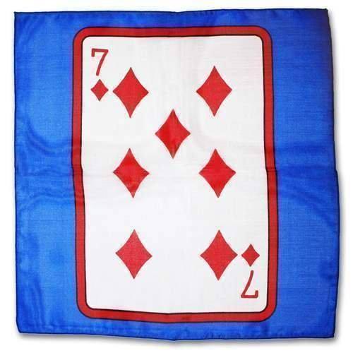 SOLOMAGIA Sitta Card Silk - Blu - Cm 30 x 30 - 7 di Quadri - Magia con Foulards - Giochi di Magia e Prestigio