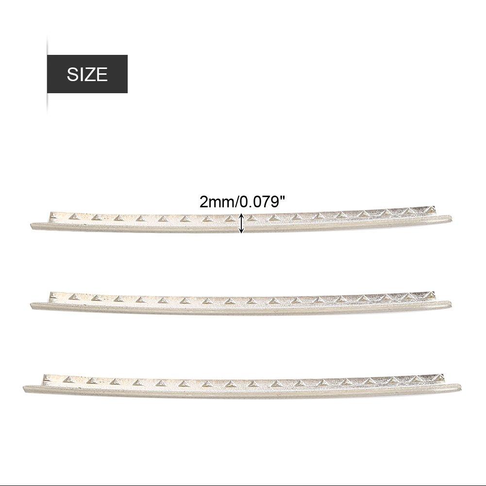 20pcs Guitar White Copper Fret Wire Fretwire Set Accessory for Folk Guitars Zerone Fret Wires
