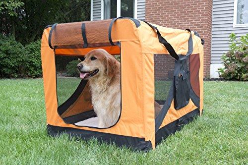 Iconic Pet Versatile Pet Soft Crate with Fleece Mat, Coffee/Khaki, X-Large by Iconic Pet (Image #7)