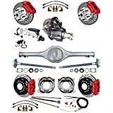 NEW SUSPENSION & BRAKE SET WITH CURRIE REAR END & AXLES, POSI-TRAC GEAR, RED WILWOOD CALIPERS, DRILLED DISCS, LINES, MASTER CYLINDER, 82-97 GM 2WD S-10, S-10 BLAZER, S-15, & S-15 JIMMY, CHEVY GMC