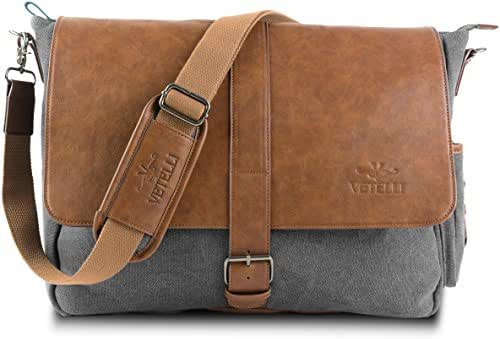 Vetelli Laptop Bag / Shoulder Messenger Bag with ScratchProtect™ sleeve for Computers up to 15.6