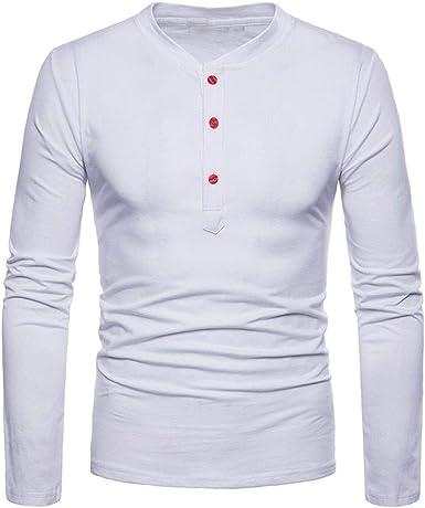 Camisas De Manga Larga Hombre Camiseta para para Simple Estilo Hombre para Hombre Blusas Tops Camisa