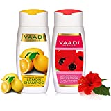 Vaadi Herbals Dandruff Defense Lemon Shampoo, 110ml with Corn Rose Conditioner, 110ml