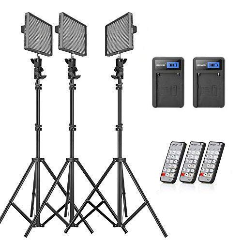 Aputure Amaran HR672KIT(HR672S + HR672W 2) CRI95+ LED Video Studio Lighting Kit with 6600mAh Lithium Batteries, 2.4G Wireless Remote Control and 6.5ft Light Stand