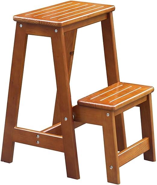 Taburete Moderno De Moda Escalera Plegable Taburete Muebles De Madera Maciza Taburete Multifuncional para Zapatos Banco CONGMING (Color : Brown, Tamaño : 38.5 * 48 * 55cm): Amazon.es: Hogar