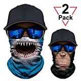 WWPAI 2 Pack or 1 Pack - 3D Animal Neck Gaiter Shield Scarf...