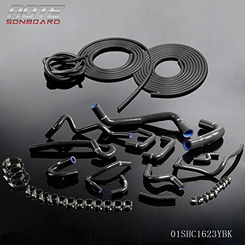 - Silicone Radiator Coolant Hose Kit Clamps For NISSAN SKYLINE R33 GTS-25T/GTS RB25DET+ Vacuum Hose Kit