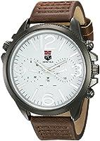Swiss Tag ST 5304 A Reloj Análogo, color Blanco/Marrón