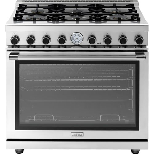 (Superiore RN361GP-L 36 Inch 6.7 Cu. Ft. Free Standing Liquid Propane Range, Stainless Steel)