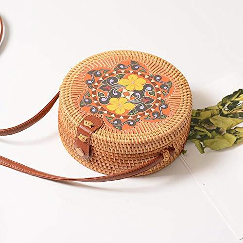 Cruzados Mujer Verde B De Loto Para Flower Bolso Aolvo Diseño RqxO565p