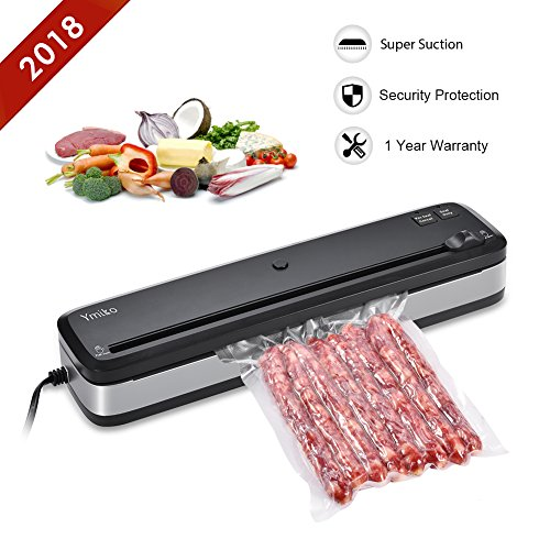Vacuum Sealer, Ymiko Vacuum Sealer Machine for Food With Portable Compact Vacuum Sealing System for Vacuum and Seal/Seal, Sous Vide Cooking Mufti-function