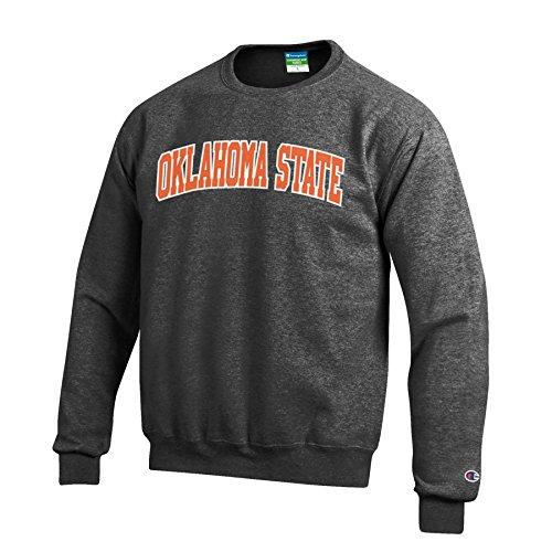 Oklahoma Pullover (Champion NCAA Oklahoma State Cowboys Men's Eco Power Blend Crew Neck Sweat Shirt, Small, Gray)