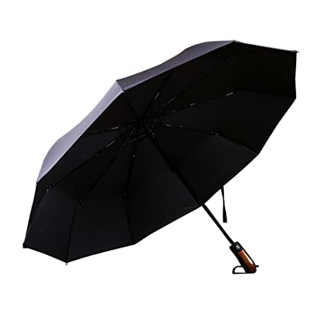 Color : White Fully Automatic Windproof and UV Protection Umbrella,Golf Umbrella Windproof Automatic Open Waterproof Sunscreen Oversized