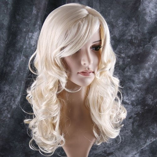 Wigs Blonde (Besgo Cosplay Stylish Long Curl Blonde Hair Wig Party Perruque)