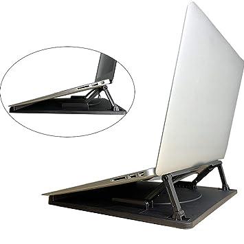 Soporte para ordenador portátil, soporte del ordenador portátil escritorio multiángulo ajustable para escritorio con la