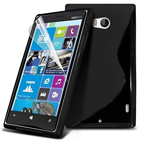 Nokia Lumia 930 S-Line Wave Gel Case Cover (Black) Plus Free Gift, Screen Protector and a Stylus Pen, Order Now Best Valued Phone Case on Amazon! By (Nokia Lumia 930 Mobile)