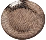 Benzara Ceramic Reptile Textured Decorative Plate, Brown