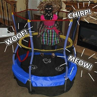 Skywalker-Trampolines-55-Round-Mini-Trampoline-with-Interactive-Animal-Sound-Game-and-Enclosure