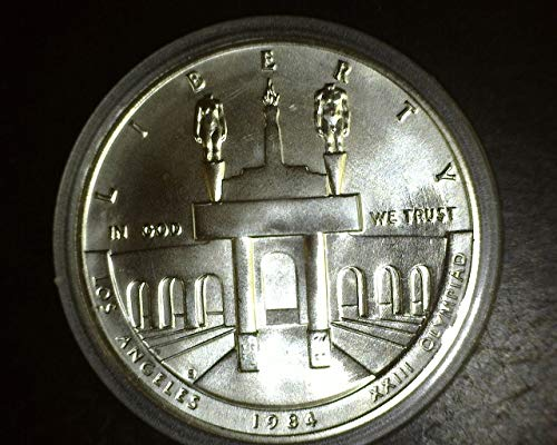- 1984 P Olympic UNC Silver Dollar Commemorative $1 Uncirculated US Mint